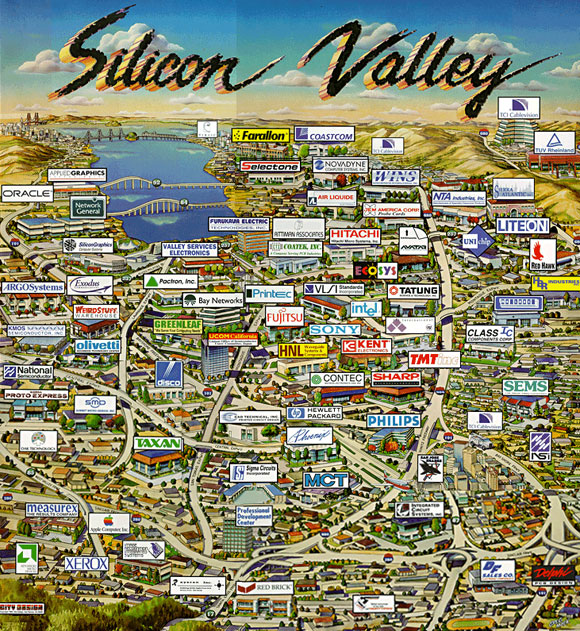 Silicon Valley (Aziende legate ai software, ai semiconduttori e ai computer) Silico10