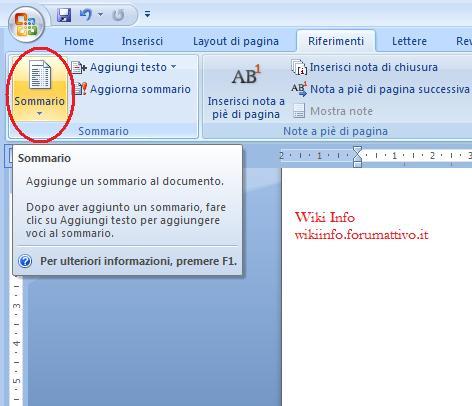 Come creare un sommario con Microsoft Word Sommar10