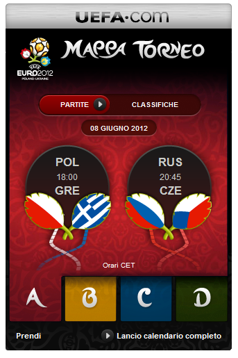 Codice HTML Widget UEFA  Uefa12