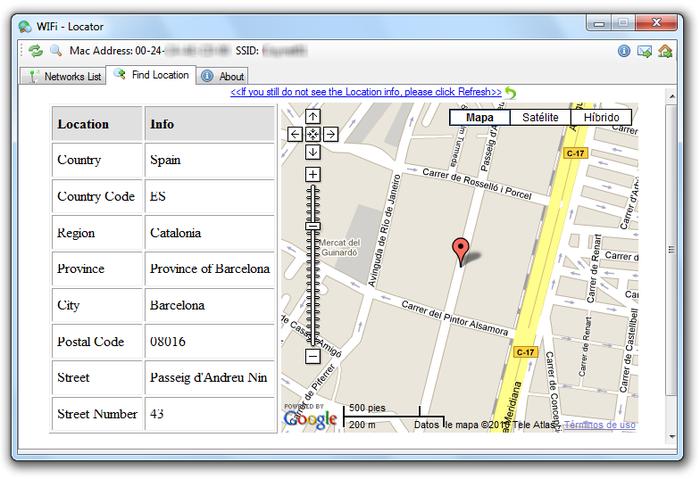 Identificare tutte le connessioni internet attorno a te su Google Maps - WiFI Locator Wifi-l10
