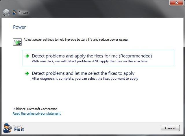 Cum putem mari durata de viata a bateriei in Windows 7 Batter10