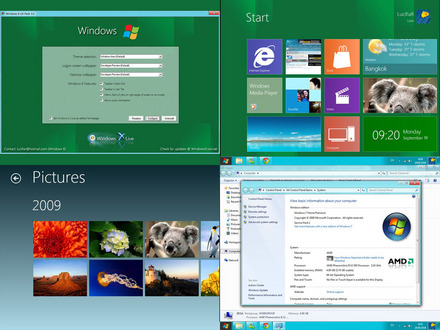 A apărut tema de Windows 8, pentru Windows 7 Window10
