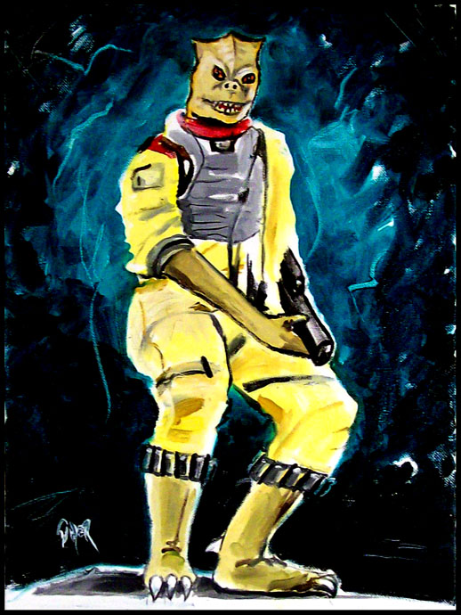 "My newest painting ""Bossk"" Bossk10"