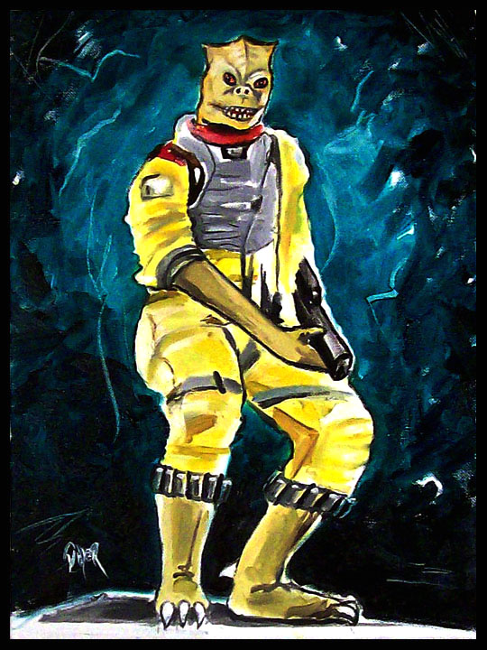 "My newest painting ""Bossk"" Bossk_11"
