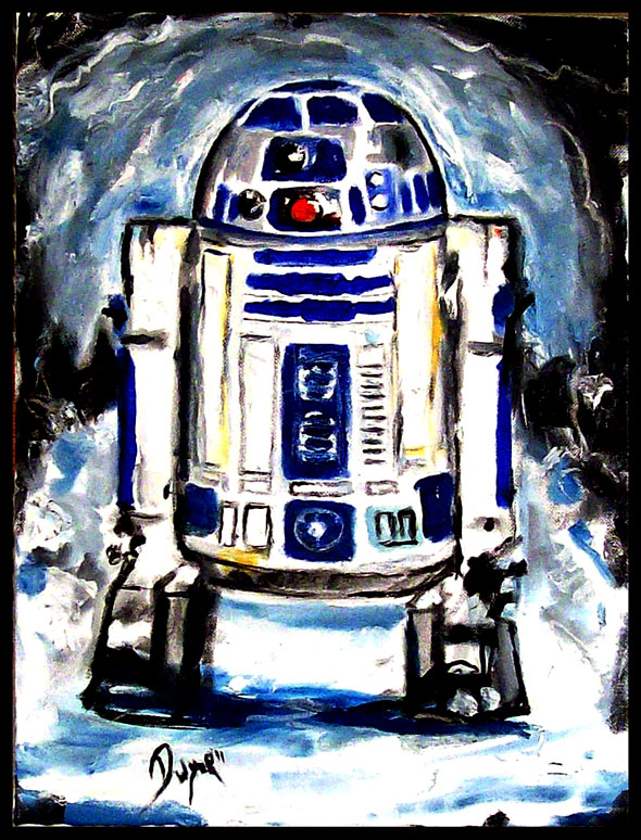 My Latest Star Wars Painting R2-d2_11