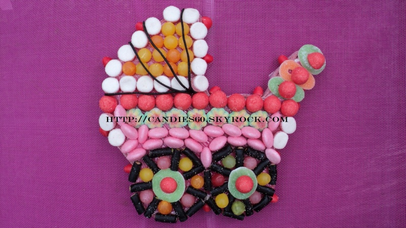 Poussette en bonbons Landea11