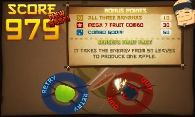 Vos scores à Fruit Ninja Score-11