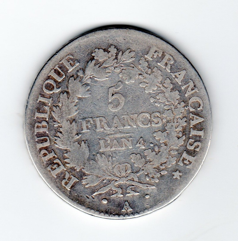 5 Francs Union & Force An 4 A  Uf_an_11