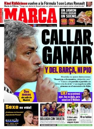 غلاف صحيفة الماركا 30 / 11 / 2011 G301111