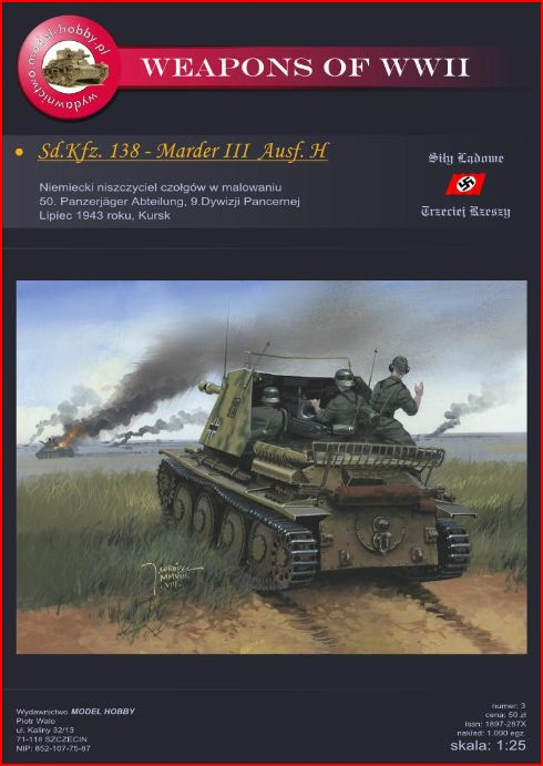 Sd.Kfz. 138-Marder III Ausf. H (German tank destroyer- WWII) Cover13
