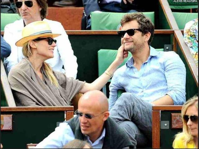 Joshua Jackson (y Diane Kruger) en el torneo de tenis Roland Garros 3311