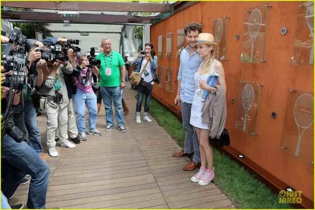 Joshua Jackson (y Diane Kruger) en el torneo de tenis Roland Garros Diane-29