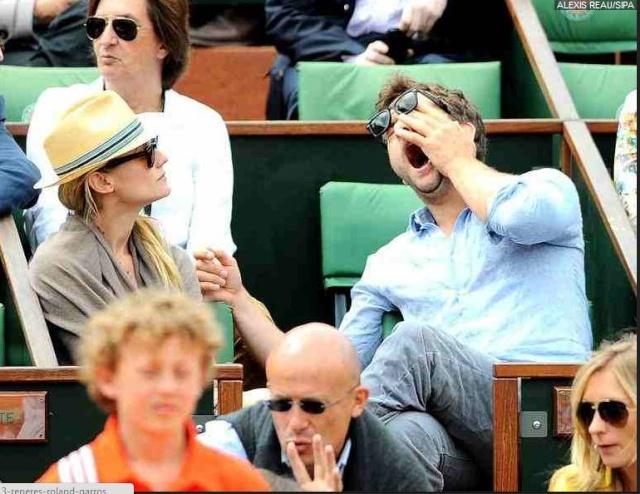 Joshua Jackson (y Diane Kruger) en el torneo de tenis Roland Garros Roland10