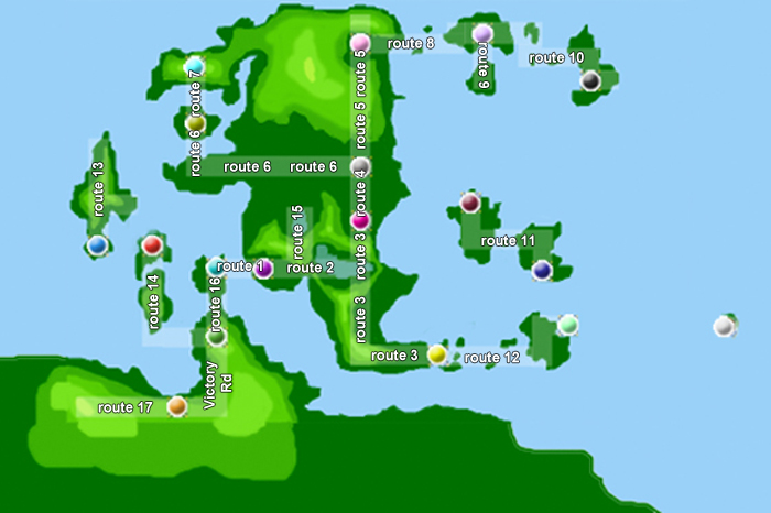 The Isola Region Map Map10