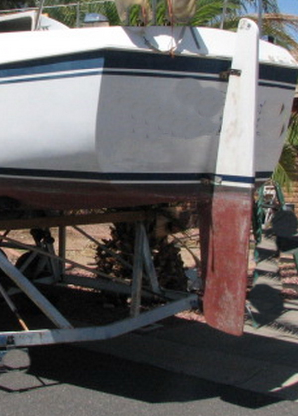 Rudder dimensions for 30' Clipper Marine 75tiw710