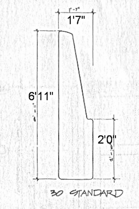 Rudder dimensions for 30' Clipper Marine 7itr7i10
