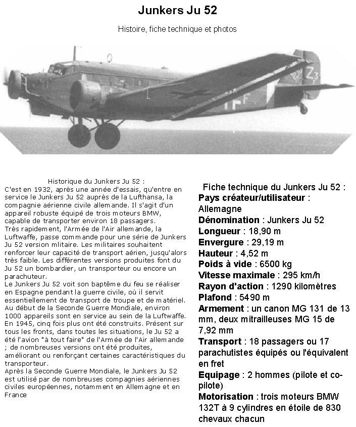 LE JUNKER 52 Ju711110