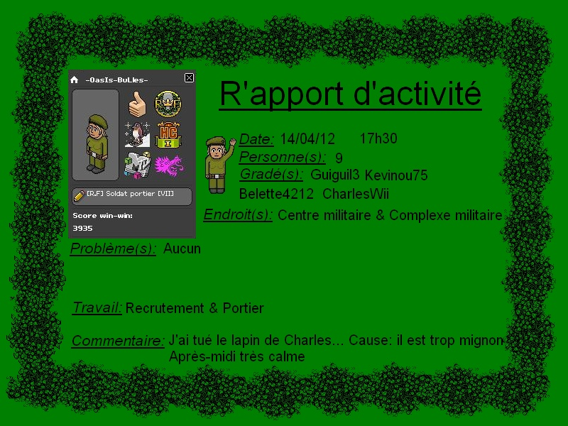 [-OasIs-BuLles-] Rapport d'activité Rappor10