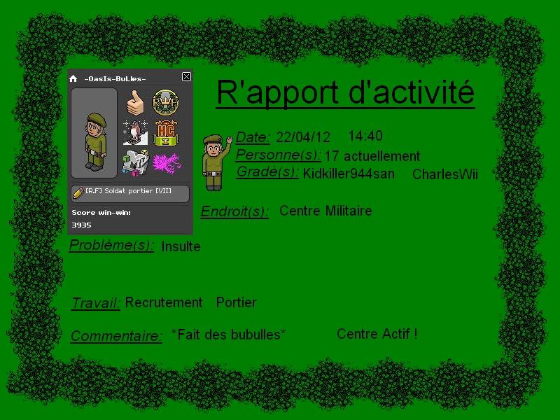 [-OasIs-BuLles-] Rapport d'activité Rappor11