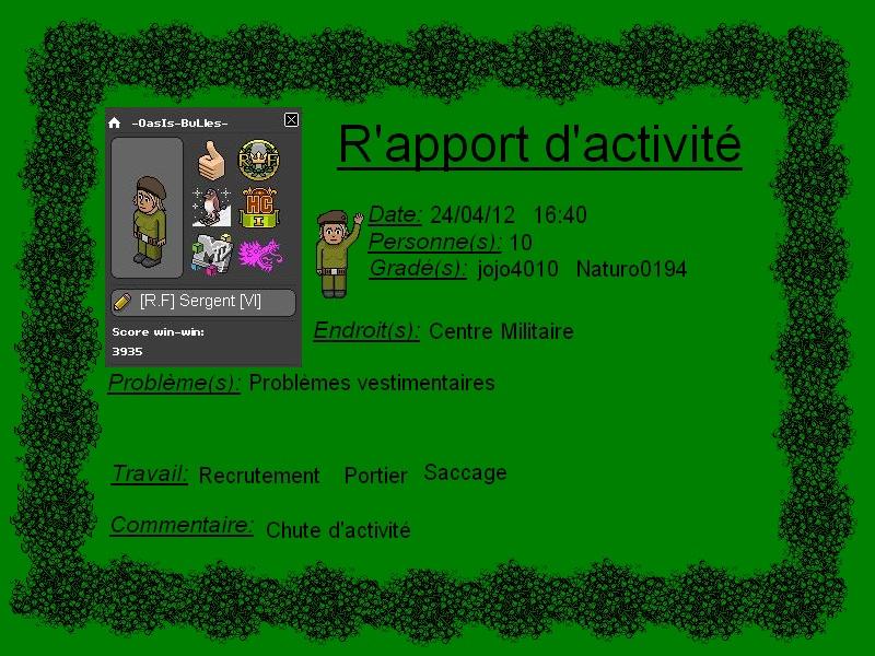 [-OasIs-BuLles-] Rapport d'activité Rappor13