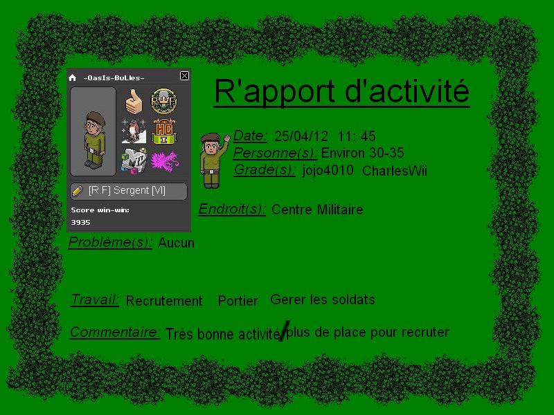 [-OasIs-BuLles-] Rapport d'activité Rappor14