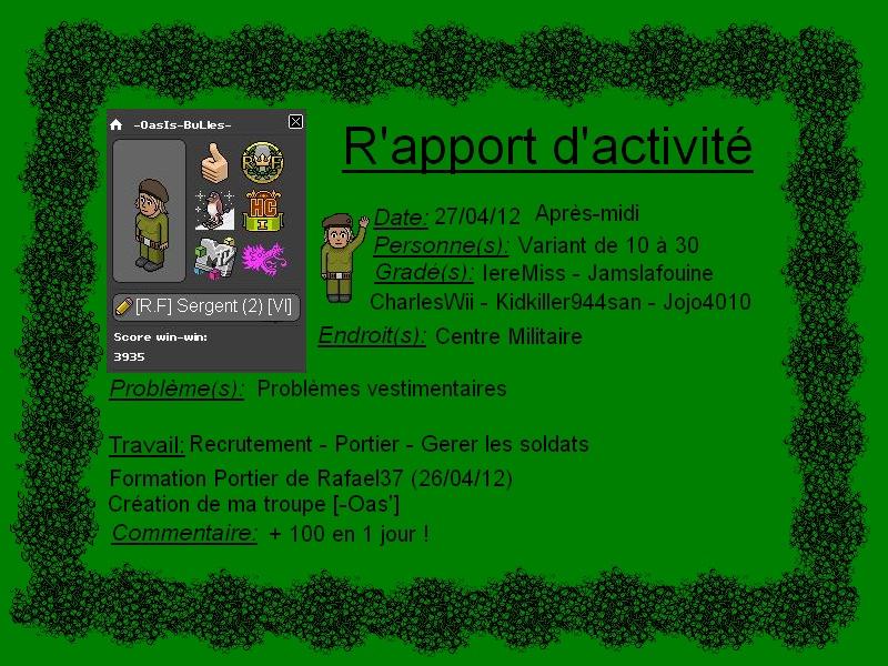 [-OasIs-BuLles-] Rapport d'activité Rappor15