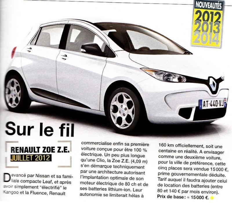Les illustration de la Renault Zoé Zoe1110
