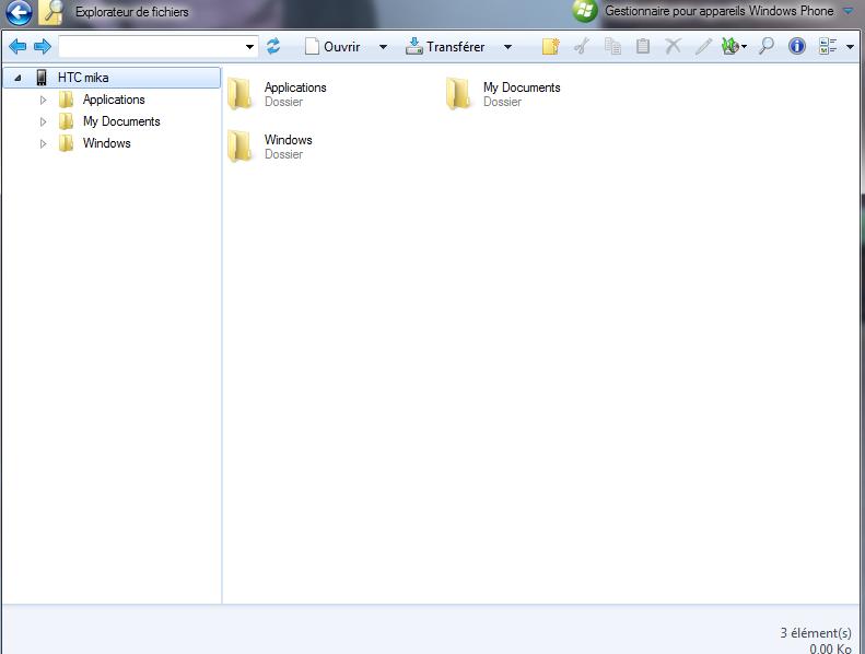[résolu][AIDE] Problème  explorateur de fichier de windows phone device manager Wpdm10