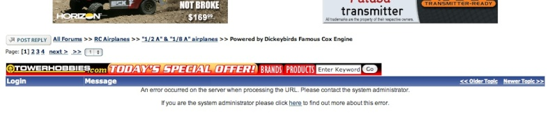 Dickybirds famous Cox engine Error_10
