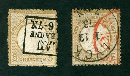 Deutsches Reich 1872 bis 1874 - Brustschildausgaben 2_x_mi10
