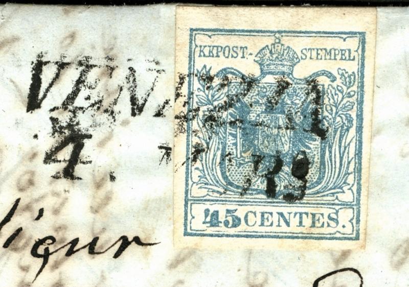 Brief von Venezia nach Baden (Wien) 1852 : Übersetzung gefragt 45_cen10