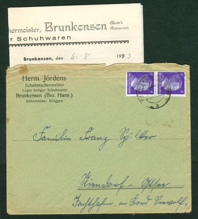Belege / Sonderstempel Deutsches Reich 1943 Bedarf10
