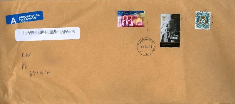 Alle schöne zentrale Rundstempel aus Norwegen auf Brief Brief_13