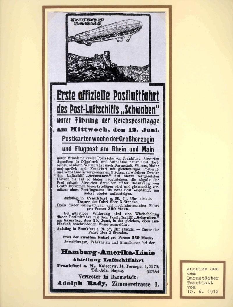 Flugpost 1912 am Rhein und Main Erste_10