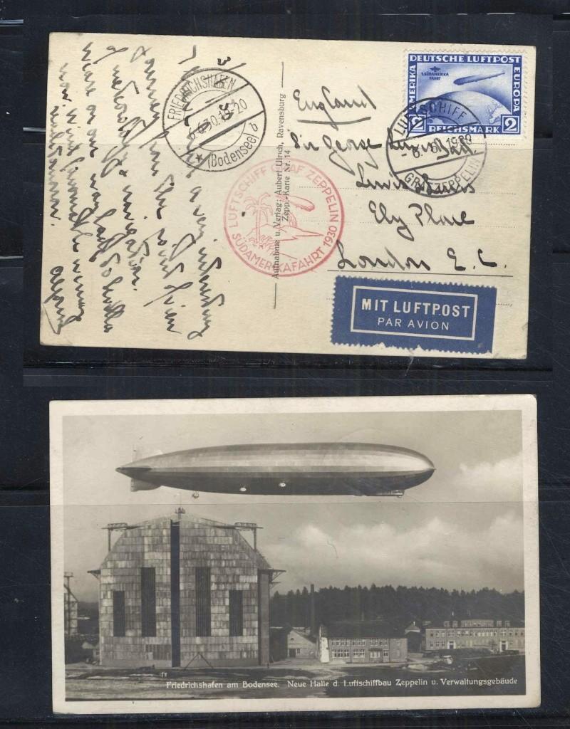 """Südamerikafahrt 1930 (Rundfahrt-) Post nach Friedrichshafen"""" Karte_10"""