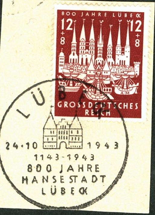 Belege / Sonderstempel Deutsches Reich 1943 Luibec11