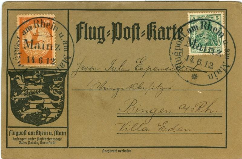 Flugpost 1912 am Rhein und Main Lz10_f10