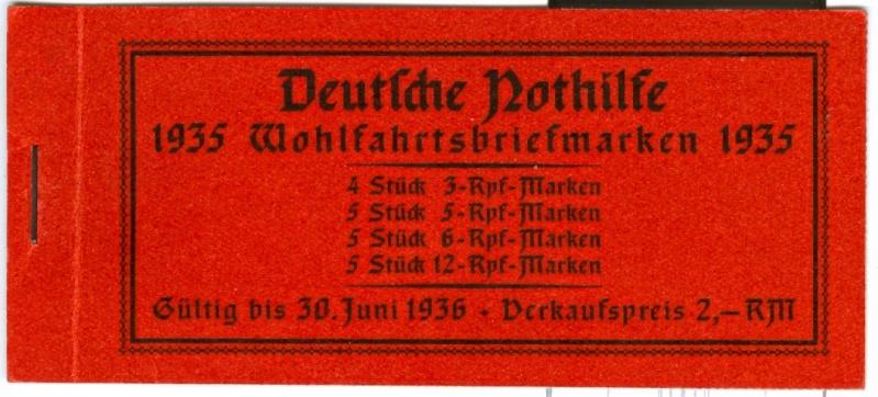 Deutsches Reich Zusammendrucke und Markenheftchen Mh_41_10