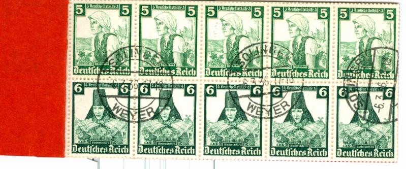 Deutsches Reich Zusammendrucke und Markenheftchen Mh_41_11
