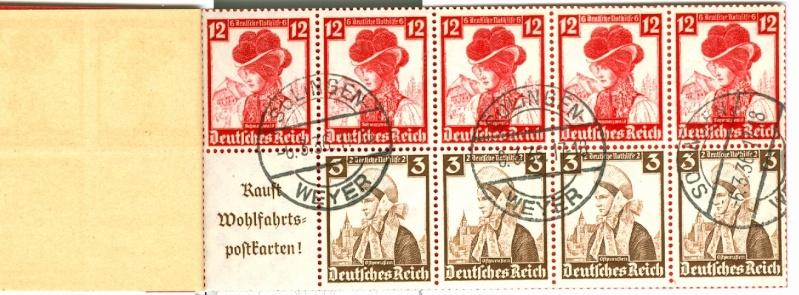 Deutsches Reich Zusammendrucke und Markenheftchen Mh_41_12