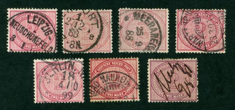1875 bis 1899 -Pfennige/Pfennig/Krone und Adler Michel10