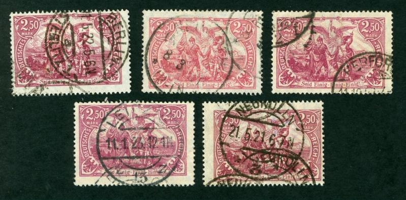 Deutsches Reich 1900 bis Mai 1919 - Germaniazeichnung Michel11