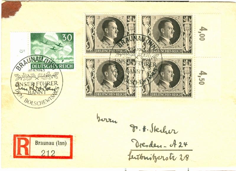 Belege / Sonderstempel Deutsches Reich 1943 Michel15