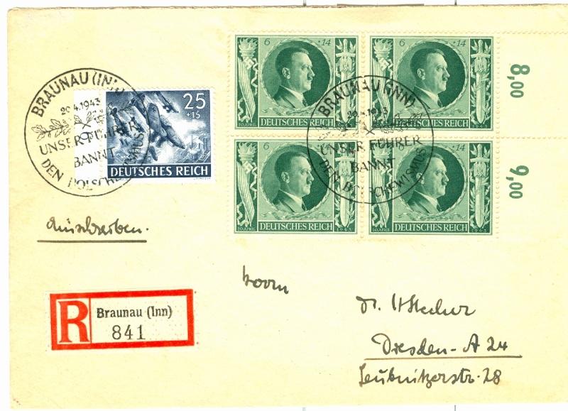 Belege / Sonderstempel Deutsches Reich 1943 Michel16