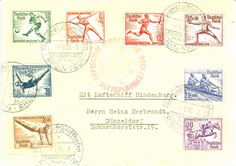 LZ 129 Hindenburg und Olympia 1936 Olympi12