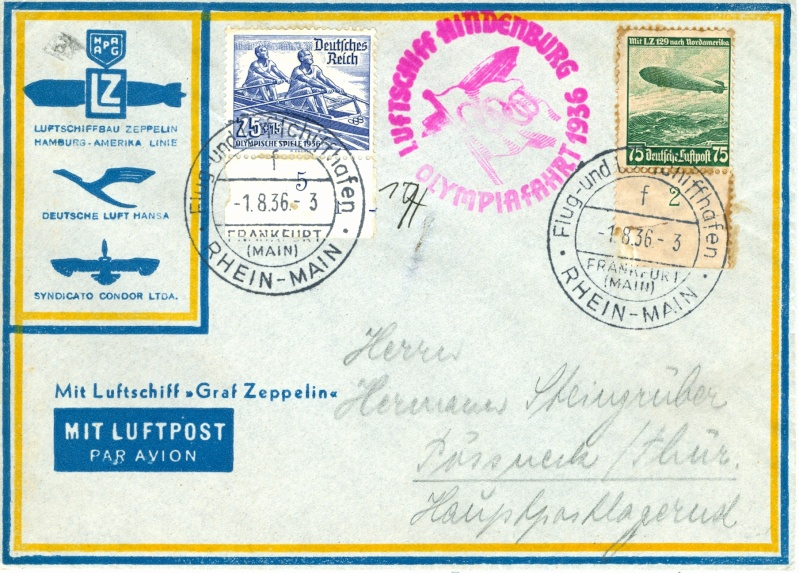 LZ 129 Hindenburg und Olympia 1936 Olympi13