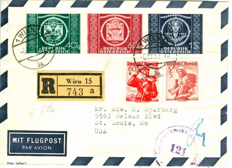 Zone - 75 Jahre Weltpostverein Upu210
