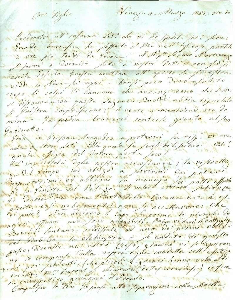 Brief von Venezia nach Baden (Wien) 1852 : Übersetzung gefragt Venezi12