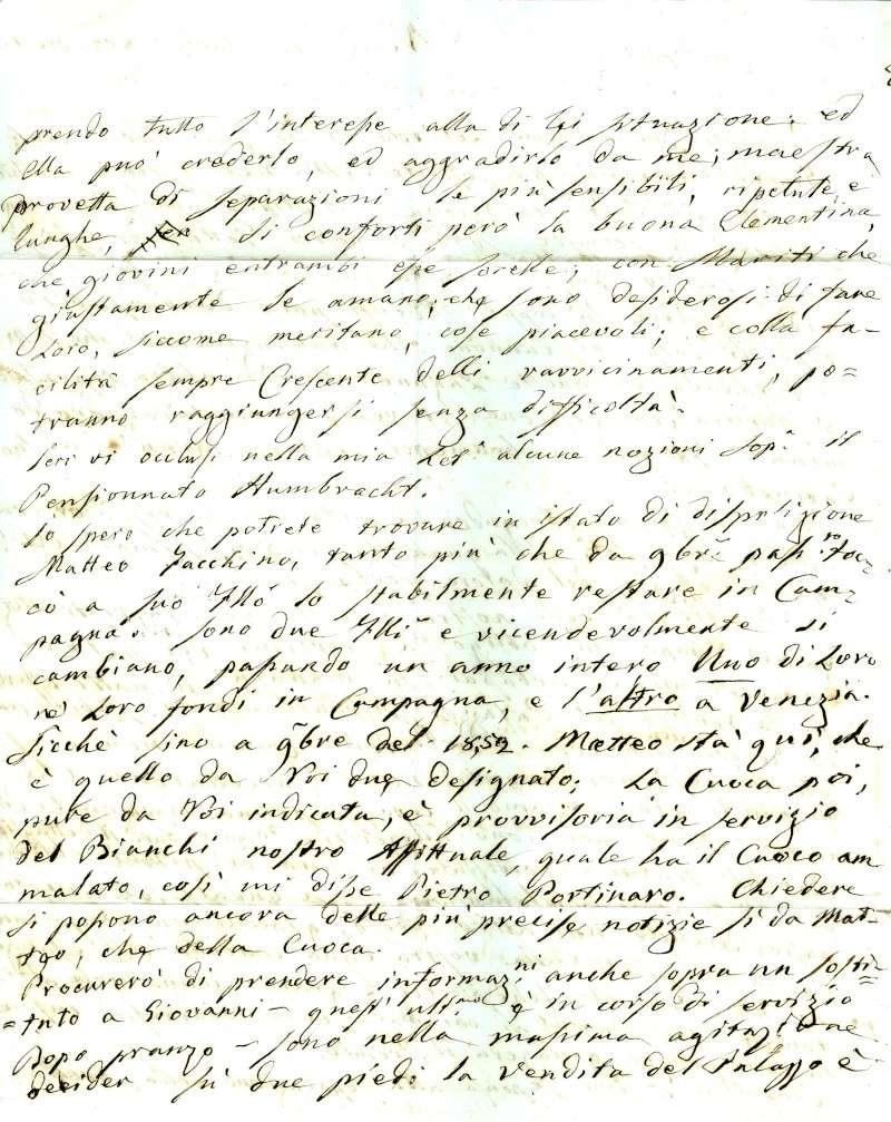Brief von Venezia nach Baden (Wien) 1852 : Übersetzung gefragt Venezi13