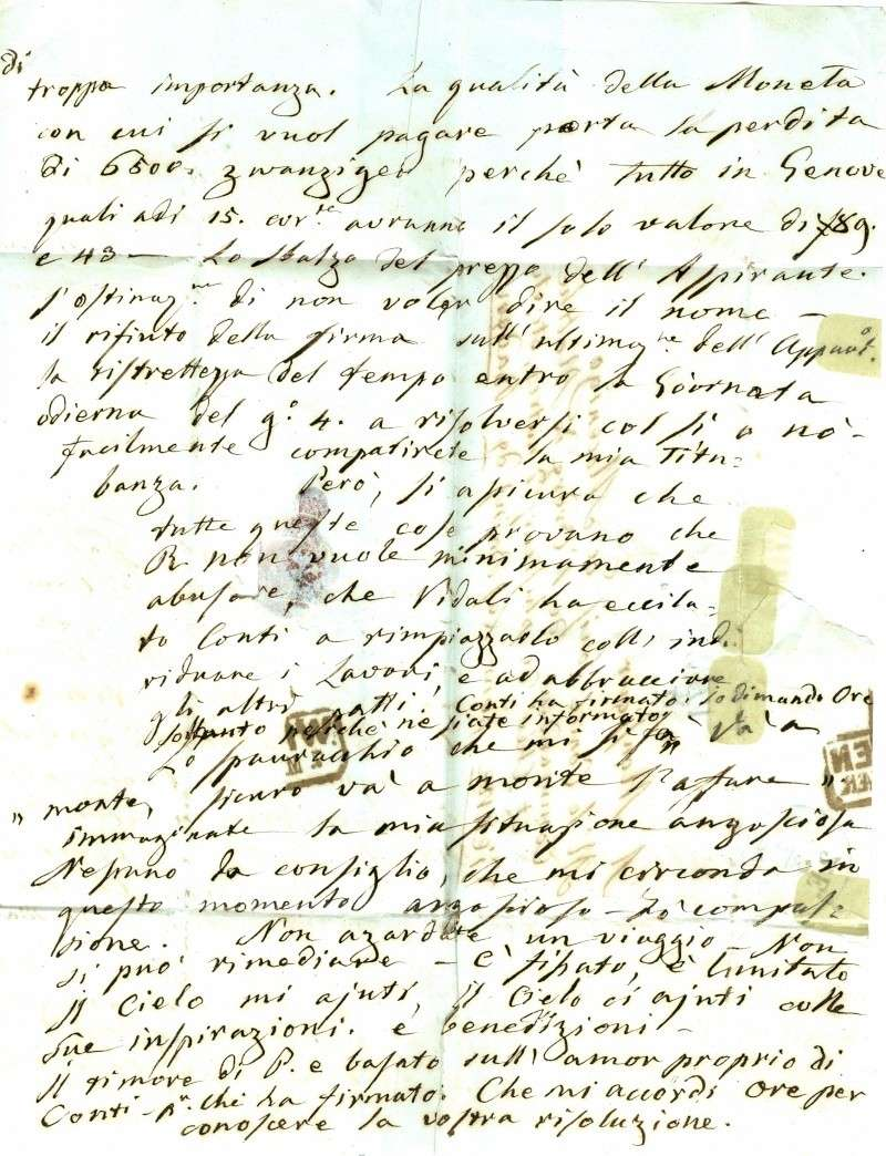 Brief von Venezia nach Baden (Wien) 1852 : Übersetzung gefragt Venezi14